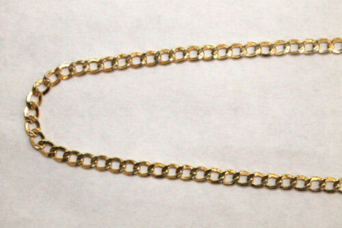 """24/"""" inches 10K Yellow Gold Hollow Cuban Link Chain Necklace 4.5MM 20/"""""""