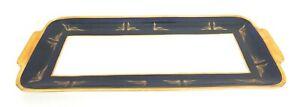 ECHT-WEIMAR-KOBALT-PORCELAIN-BLUE-GOLD-14-x-6-5-SERVING-PLATE-PLATTER-GERMANY