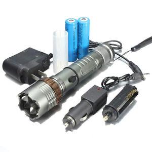 5000Lumen LED Zoom Flashlight Torch Lamp + 18650 Battery + Charger US Stock