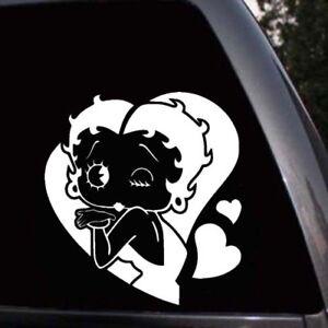 Black-Betty Boop Hands Together Cartoons Decal Sticker Etc. Laptops Die Cut Decal Bumper Sticker for Windows Trucks Cars
