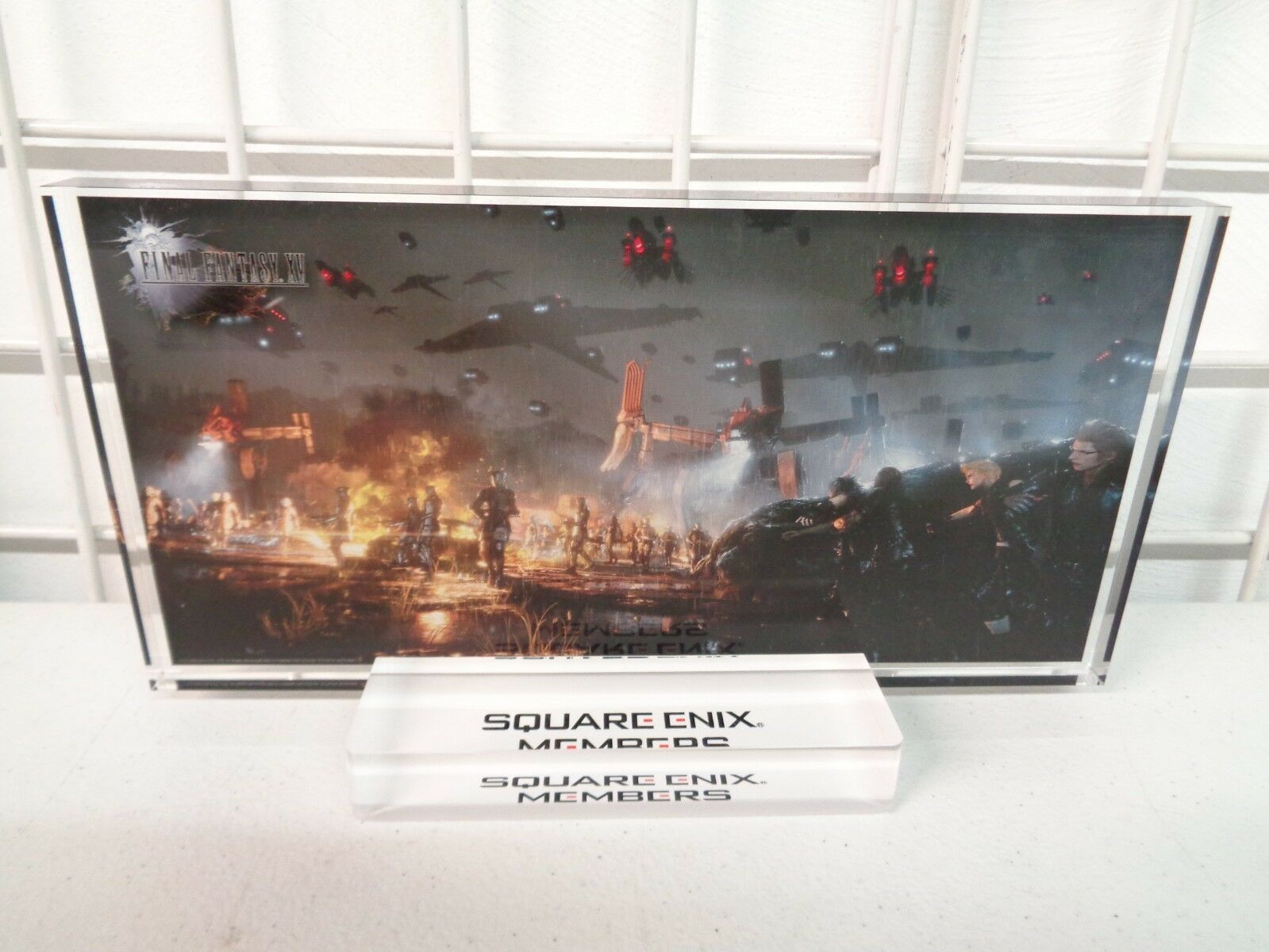 SQUARE ENIX FINAL FANTASY XV MEMBERS EXCLUSIVE PLAQUE ART ACRYLIC
