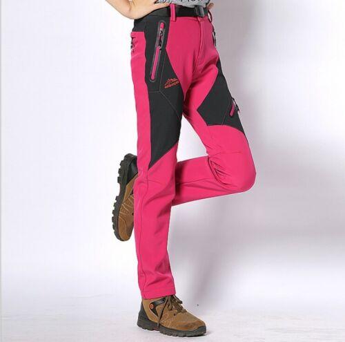NEW Women Waterproof Breathable Soft Shell Outdoor Hiking Climbing Pants DRJ5807