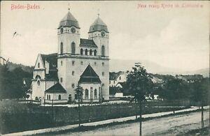 Ansichtskarte Baden-Baden Neue evang. Kirche in Lichtental 1915 (Nr.9642)