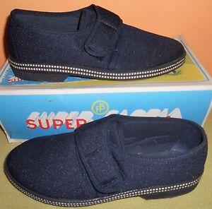 Bleu 39 Taille Bateau Homme Chaussures Pantoufles Velcro Caoutchouc Antidérapant Mocassins nqHBUnv6w