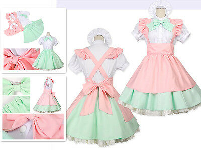COSTUME JAPANESE MAID Lolita Cosplay Style Big Bow Dress HALLOWEEN S M L