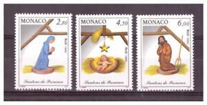MONACO . N° 1957/1959 .3 VALEURS   NOEL      NEUVES  **. SUPERBE .