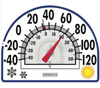 Springfield Window Cling Thermometer Clear Design F And C