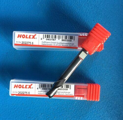 202275 6 HOLEX 1 x VHM-Fräser 6 mm  Artikelnr
