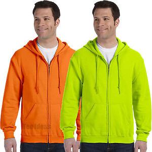 Gildan-ANSI-High-Visibility-Full-Zip-Hooded-Sweatshirt-Safety-Colors-18600