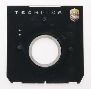 LINHOF 4x5 MEDIUM FORMAT CAMERA LENS BOARD PLATE HOLDER LIGHTLY USED BLACK CLEAN
