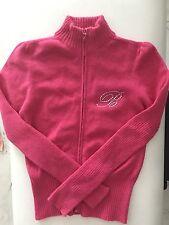 Miss Blumarine Designer Girls Ski Angora Pink Girls Jacket W Zipper Sz6