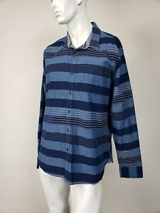 AMERICAN-RAG-Machina-Stripe-Blue-Navy-White-Button-Down-Shirt-sz-XL-NWT-45