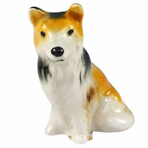 Goebel Collie Dog Porcelain Miniature Figurine Hand Painted West Germany Vintage