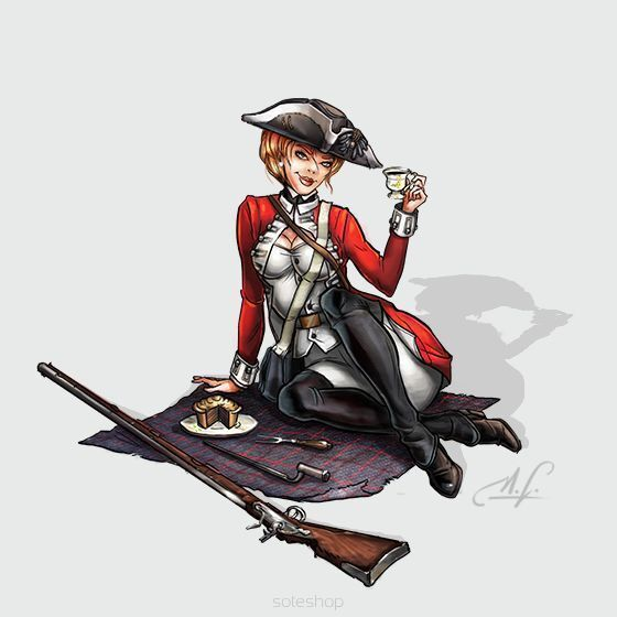 Rebecca the Red Coat 54mm Hot and Dangerous Wargamer Games Studio Miniature