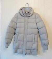 Women's Nike Down Padded Warm Long Winter Parka Jacket Coat GRAY Small 6 Puffer