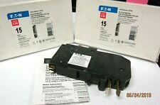 LOT OF 2 Eaton Cutler-Hammer CHFCAF115PN PLUG ON NEUTRAL AFCI BREAKER 15 AMP
