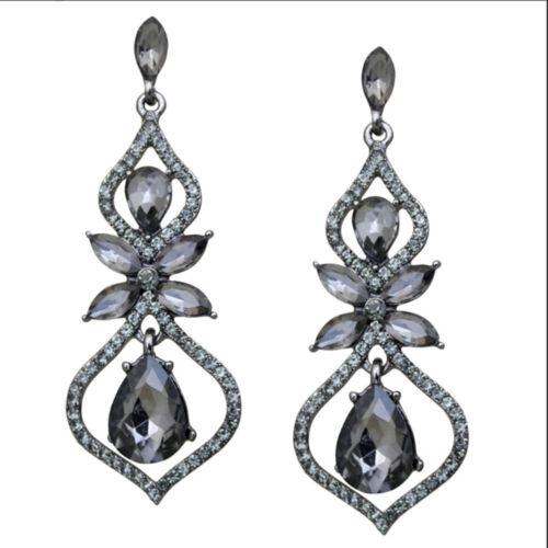 KIRKS FOLLY DREAMY TEARDROP PIERCED EARRINGS  antique silvertone