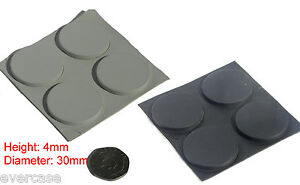 Self-adhesive-sticky-rubber-feet-for-computers-audio-appliances-etc-4x30mm