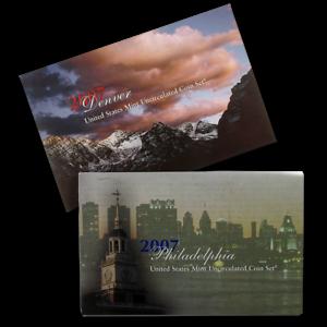 2007-US-Mint-Uncirculated-Coin-Sets-Denver-amp-Philadelphia-Mints