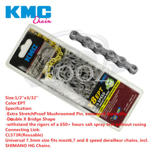 KMC MTB Road bicycle chain X8 X8PL 8 speed for Shimano Campagnolo and SRAM
