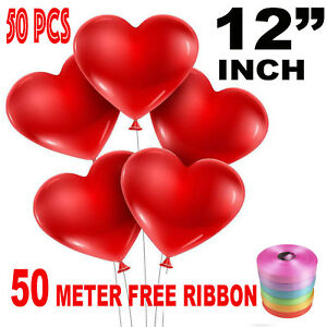 50-PZ-12-034-Red-Heart-Love-lattice-Palloncini-Matrimonio-Festa-Di-Compleanno-San-Valentino
