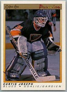 1990-91-O-PEE-CHEE-PREMIER-CURTIS-JOSEPH-Rookie-RC-Card-51-Rare-Blues-Mint-BV