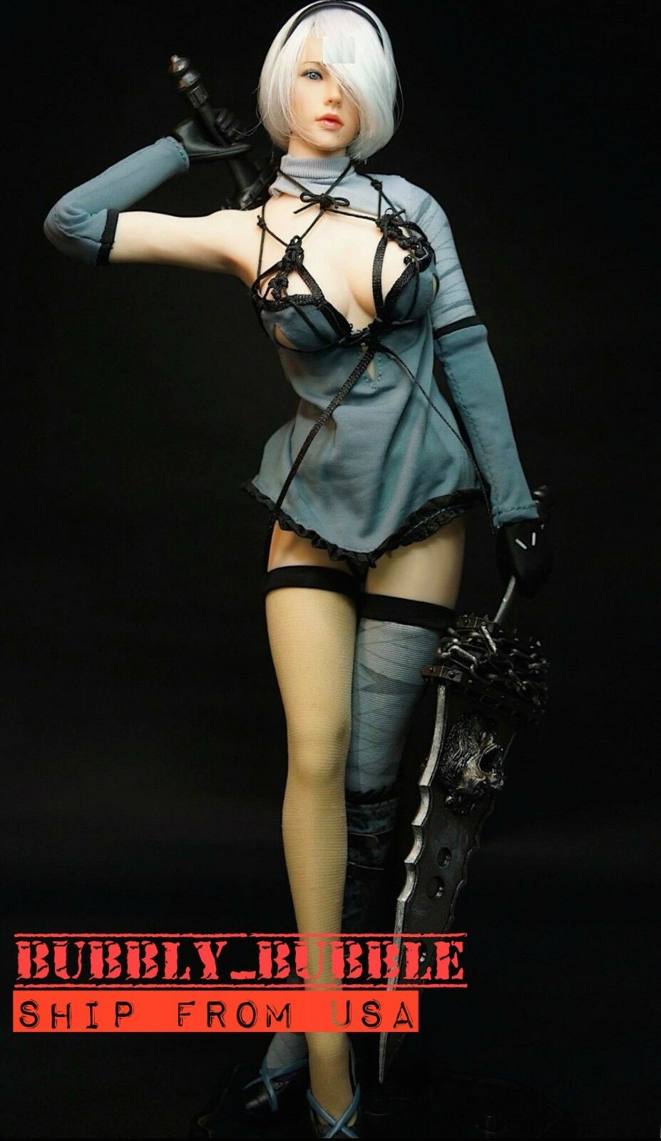 1/6 Nier Automata YoRHa No.2 Type B Head Sculpt Costumes PHICEN Figure Set  USA
