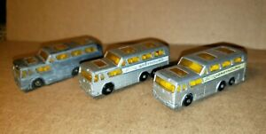 3-Lesney-Matchbox-Series-No-66-Coach-Greyhound-Bus-Lot