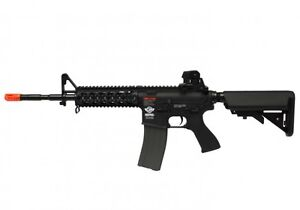 G-amp-G-CM16-Combat-Machine-Raider-Long-M4-RIS-AEG-Airsoft-Gun-Black-Combo