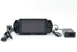 Sony-PSP-3000-Launch-Edition-Black-Handheld-System-Console-Charger-Excellent