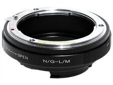 Anello adapter x montare ottiche a Nikon G su corpi Leica M. Adattatore. ALM.