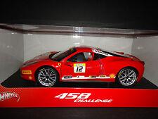 Hot Wheels Ferrari 458 Italia Challenge #12 Red 1/18