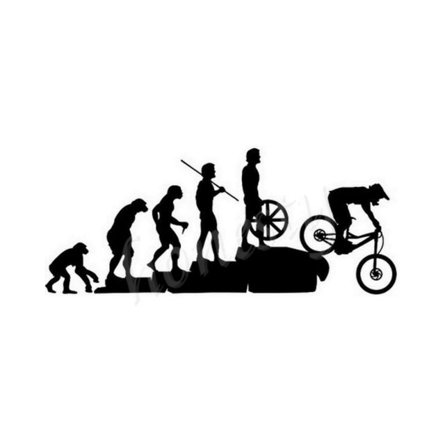 Funny Mountain Bike Downhill Car Sticker Laptop Window Home Black