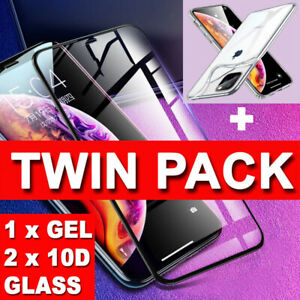 For New Apple iPhone 11 2019 2 Pack Tempered Glass Film Screen Protector Cover