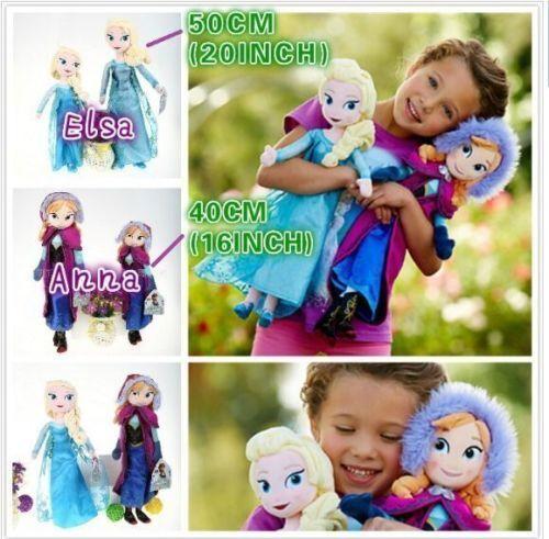 New Disney Frozen Elsa&Anna princess stuffed Soft plush toy doll for