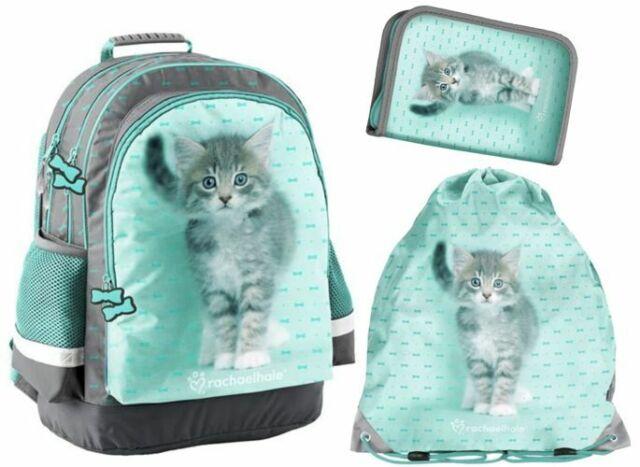 3IN1 SCHOOL BACKPACK PENCIL CASE SHOE BAG RACHAEL HALE CAT KITTEN PASO
