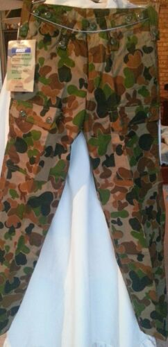 AUSCAM CAMO GENUINE HUSS MILITARY HUNTING CAMPING CARGO PANTS