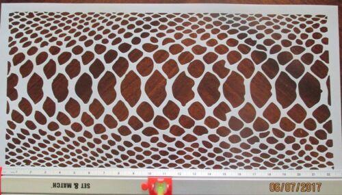 Snake Skin Camo Stencil Large Reusable 10 mil Mylar Stencil 11x23