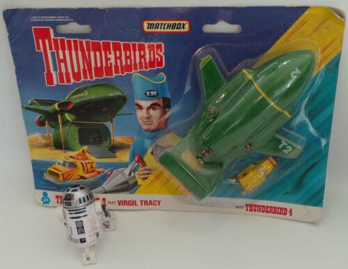1992 THUNDERBIRDS DIE CAST SET BY MATCHBOX THUNDERBIRD 2 /& THUNDEBIRD 4