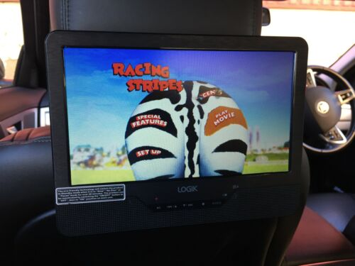 "1 of 1 - 9"" Car Headrest DVD Player In Car Portable DVD Player 9 inch Mounting Kit AV in"