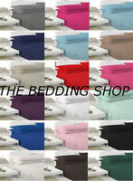 Cotton Rich Single Double King Fitted Sheets & Pillowcases IN STOCK FREE P&P