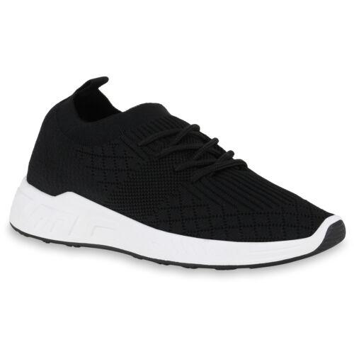 Damen Sportschuhe Laufschuhe Schnürer Fitness Sneaker Strick 825866 Schuhe