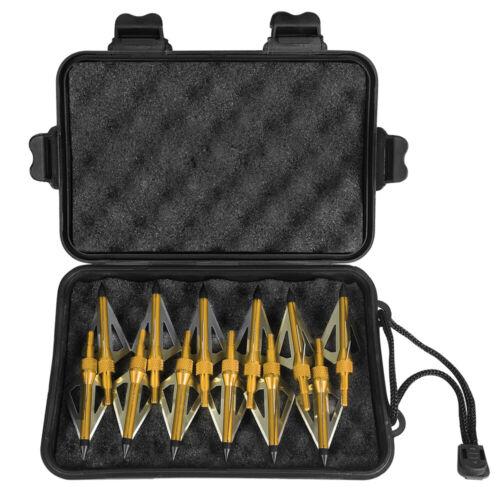 12pcs 100grain 3 Blade Crossed Broadhead Arrow Head Bow Archery Fishing Hunting