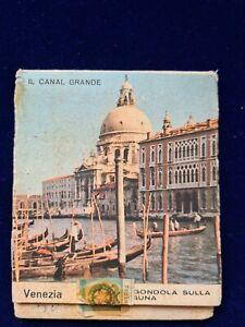 Scatola fiammiferi, match box, SAFFA, citta' d'Italia, VENEZIA, vintage