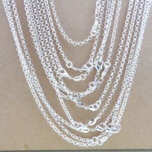 Bulk-925-Sterling-Silver-034-O-034-Chain-Necklace-2-5mm-Jewelry-findings-for-Pendant
