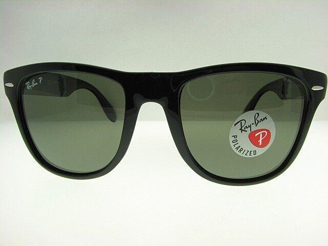 7db814b4b1c Ray-Ban RB4105 601 58 54mm Folding Black Frame With Green Polarized A3 Wayfarer  Sunglasses for sale online