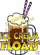 Ice Cream Float Drinks Root Beer Sign Decal Sticker 12