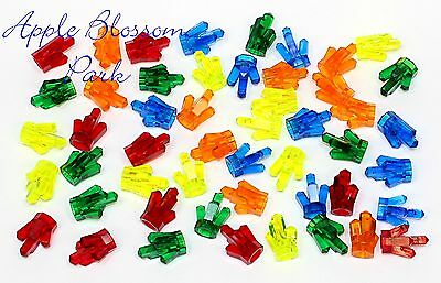 NEW Lego Lot//10 ROCK CRYSTALS Jewels Trans Green Orange Red Blue Treasure Set