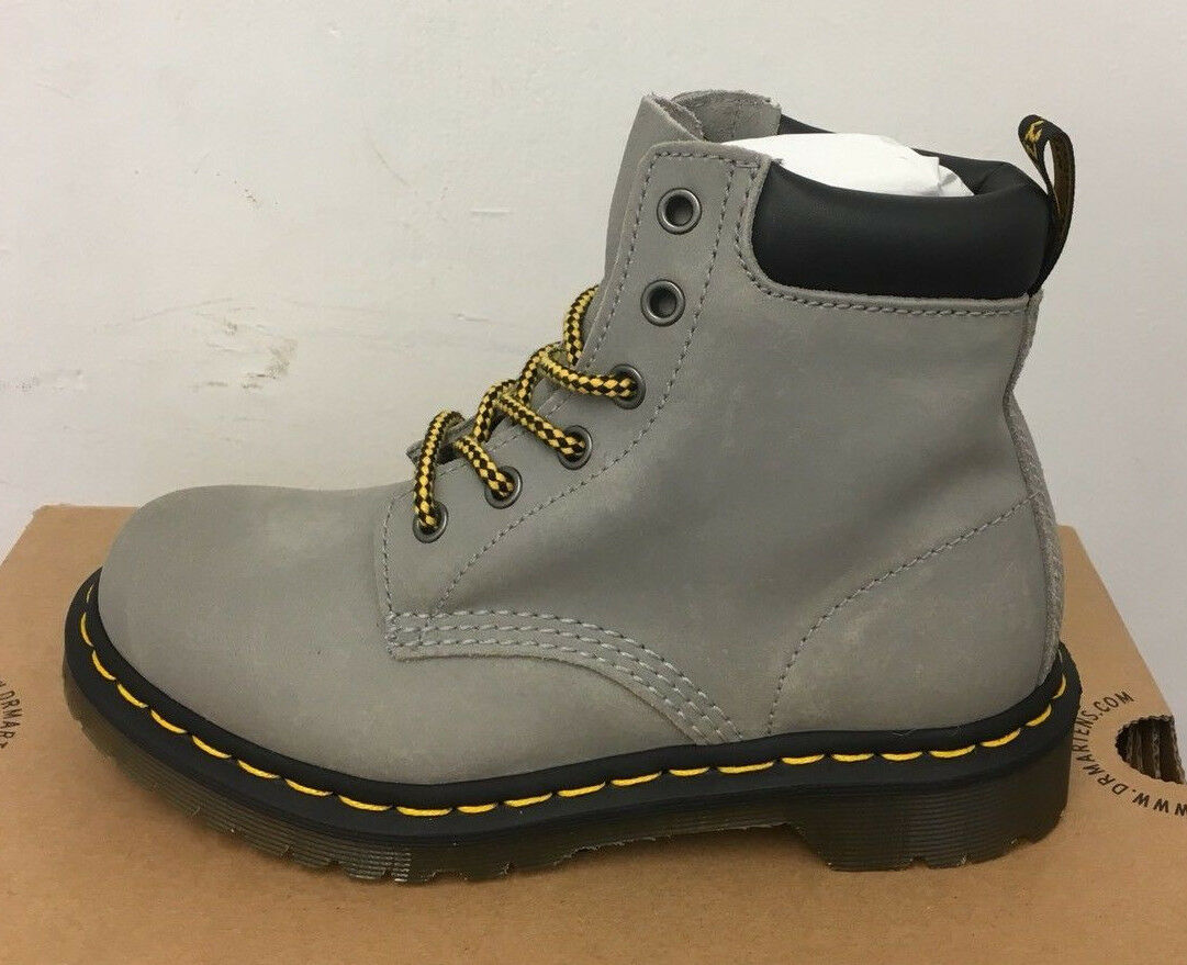 DR. MARTENS 939 CONCRETE GREASY SUEDE   BOOTS SIZE