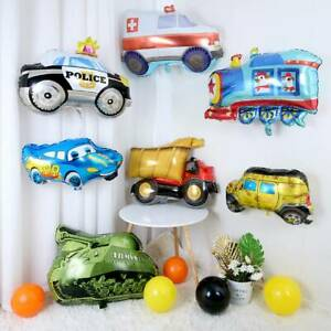 Car fire truck Balloons Foil Ballon Birthday Party Kids Children Party Decor